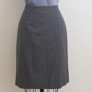 J. Crew Gray 100% wool pencil skirt super 120's 6